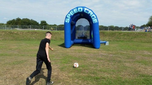Speed Cage Football Game Party Event Hire