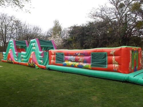 Jungle Assault Course Inflatable Rides and Slides Monster