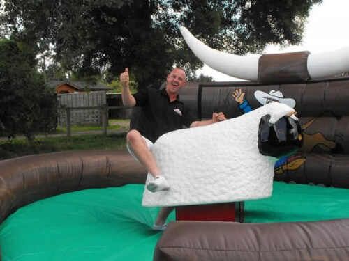 Rodeo Sheep Inflatable Rides and Slides Monster